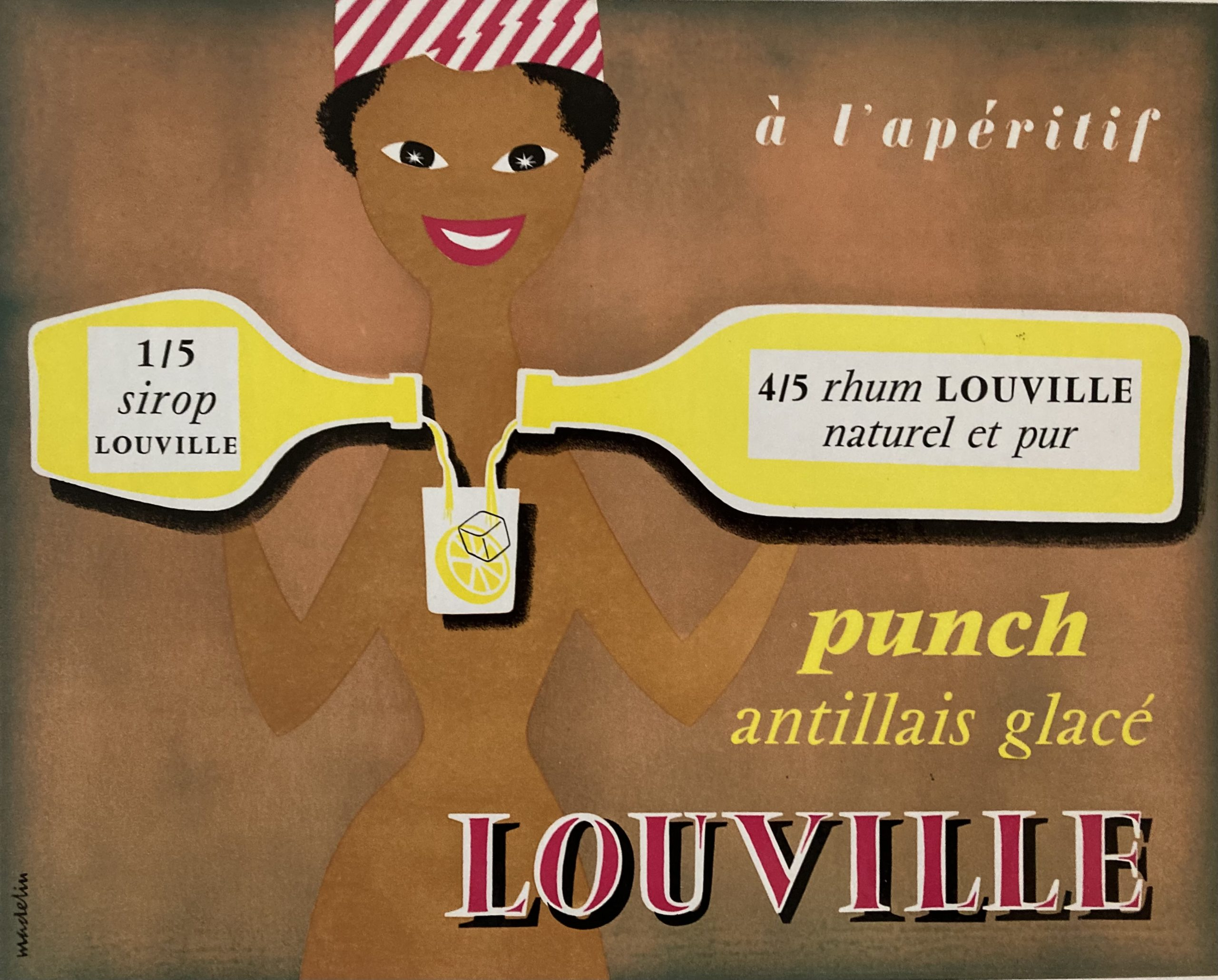 Card sign for Rhum Louville