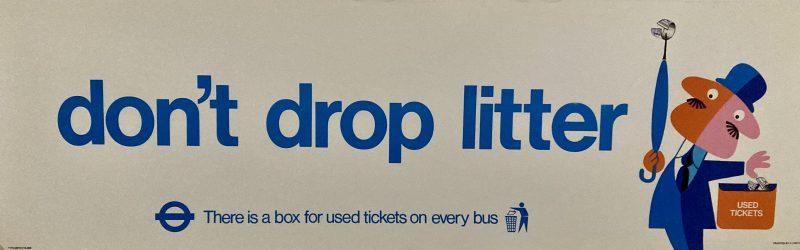 Don't Drop Litter poster
