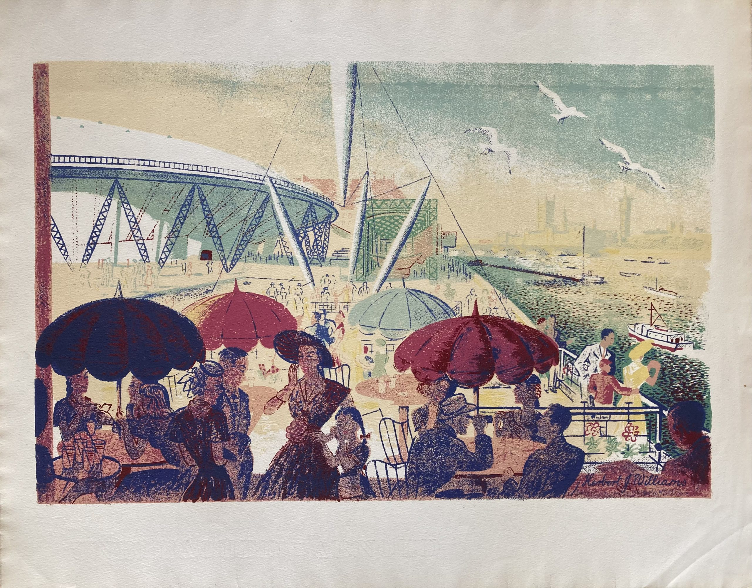 Lithograph for Festival of Britain