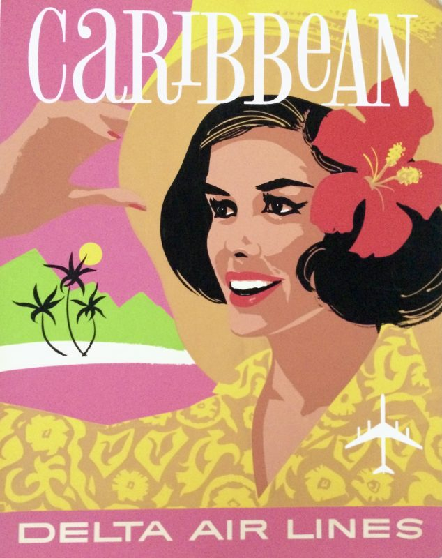 Delta Airlines poster to Caribbean