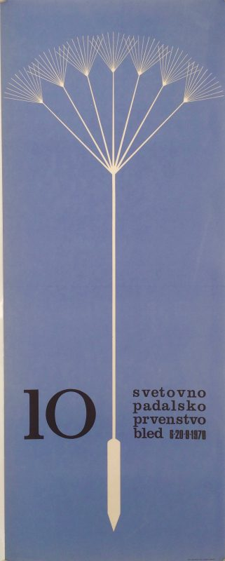 stylised image of open parachute against blue background