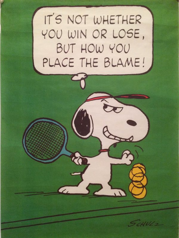 snoopy dog about to play tennis