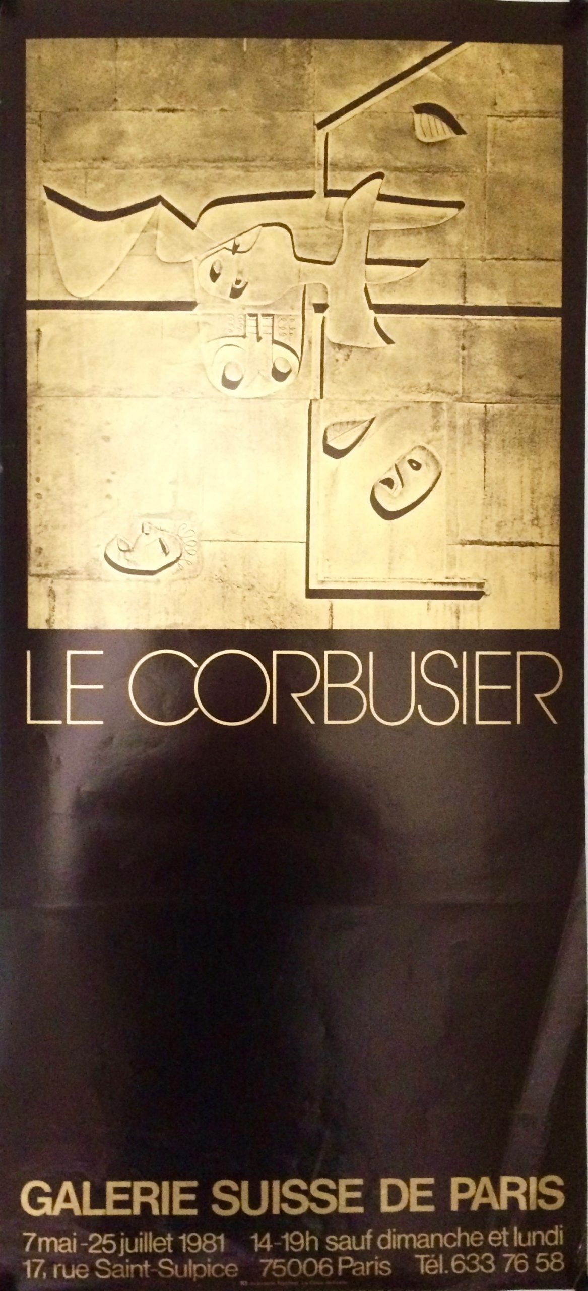 corbusier design in gold square