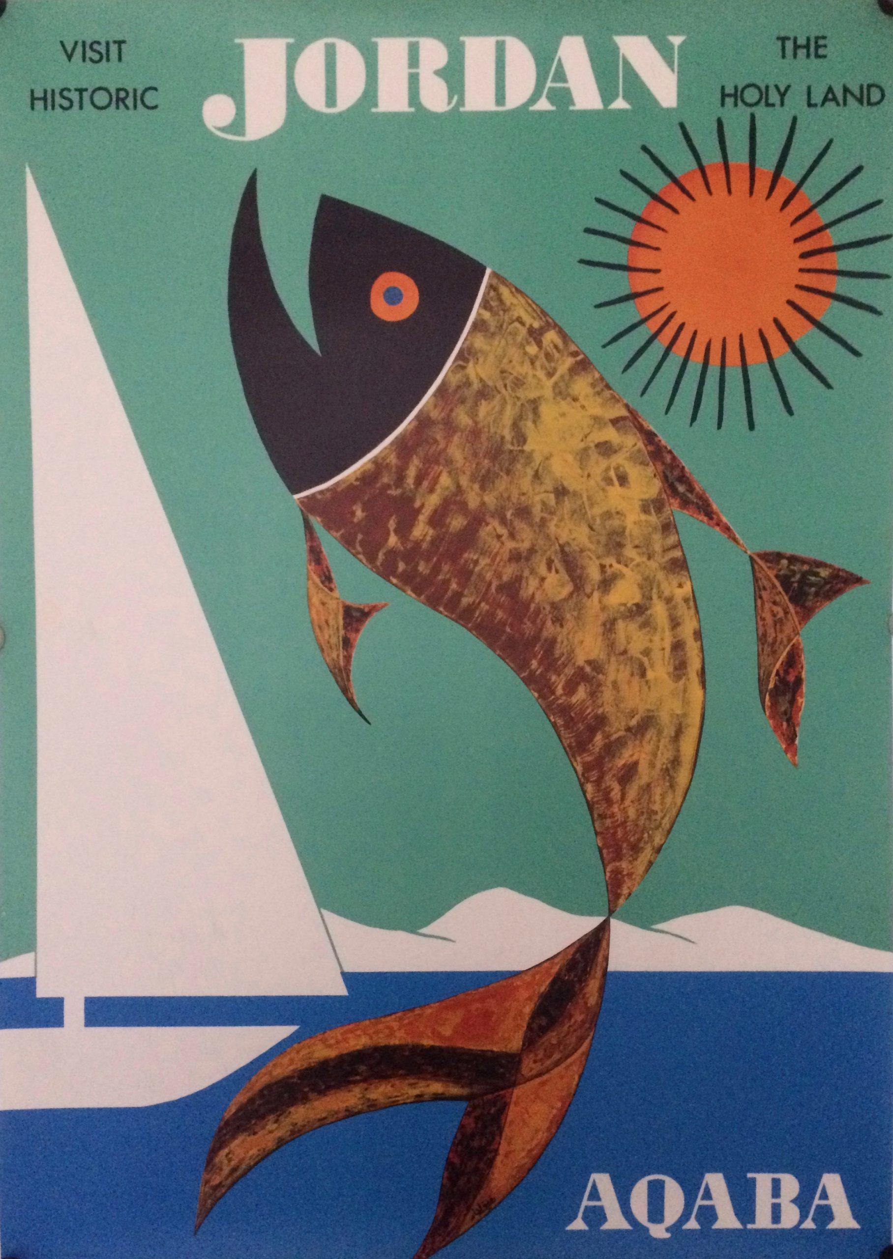 Travel poster for Aqaba Jordan