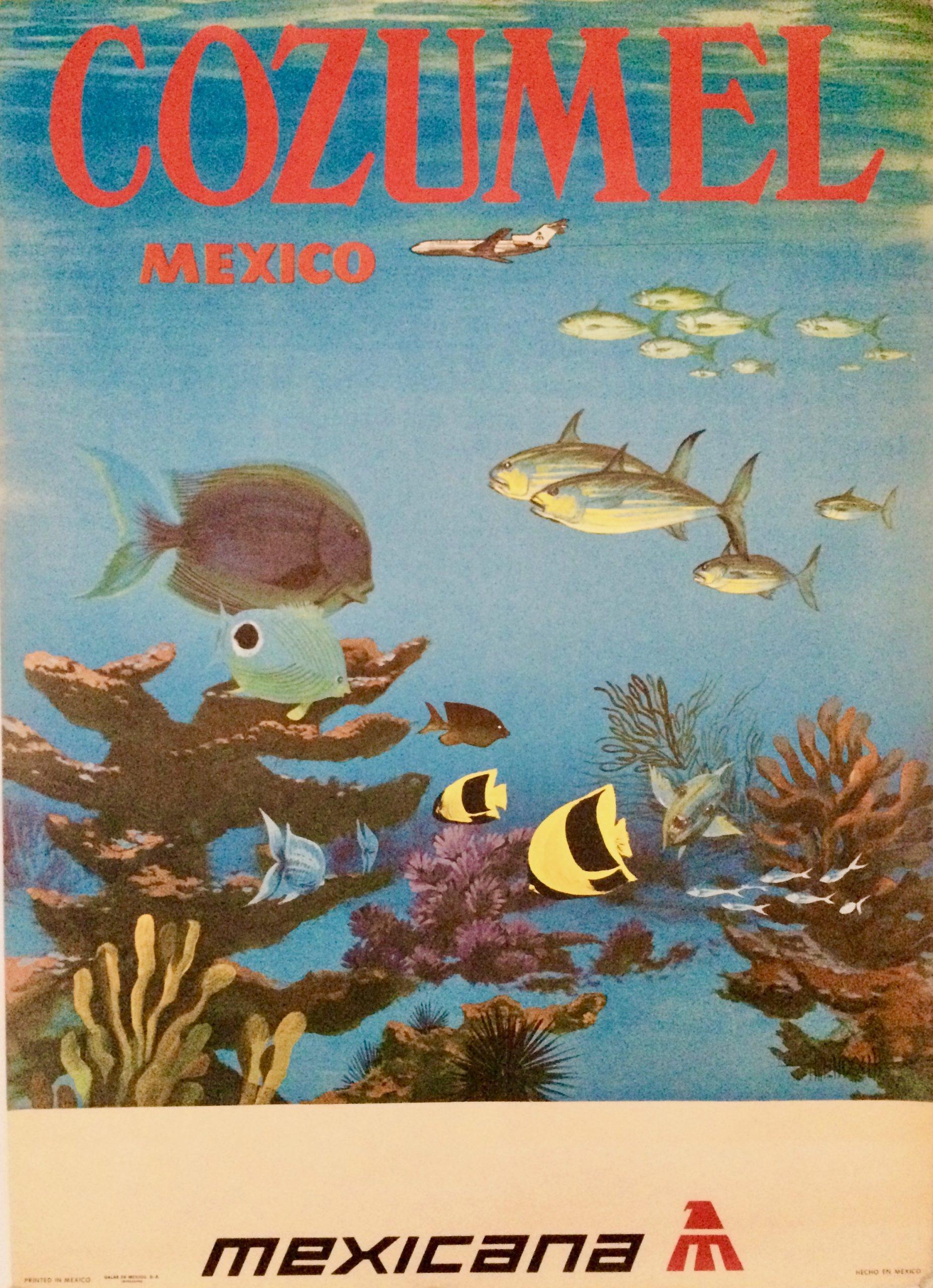 Vintage poster for Cozumel