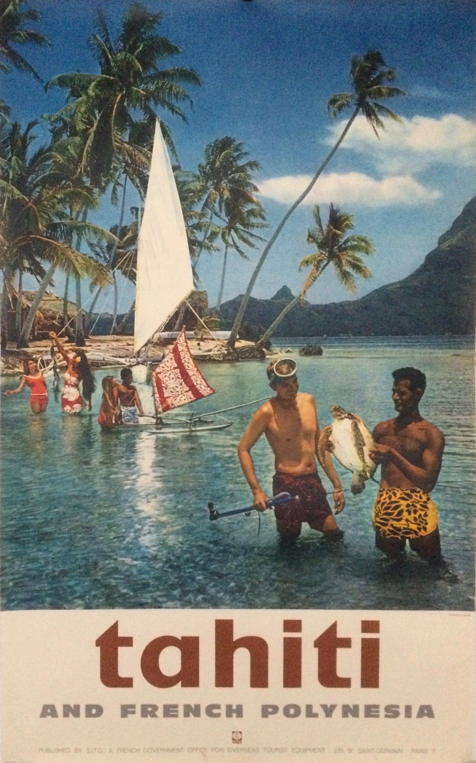 Tahiti travel poster