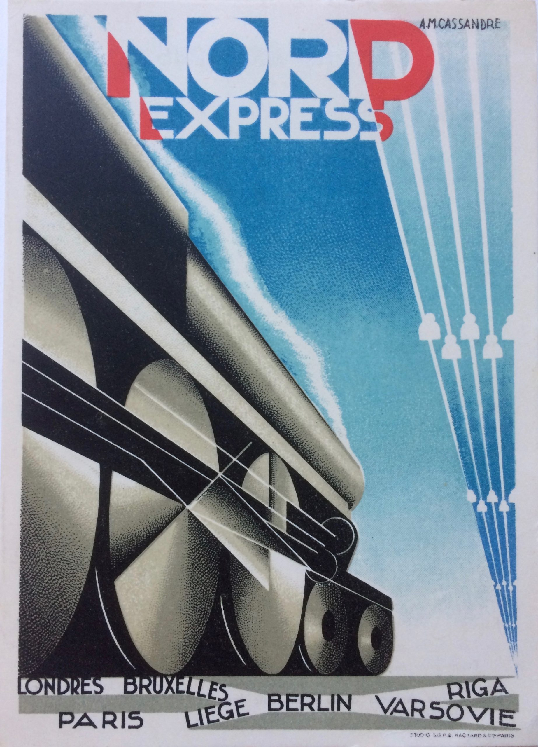 Nord Express advertising card