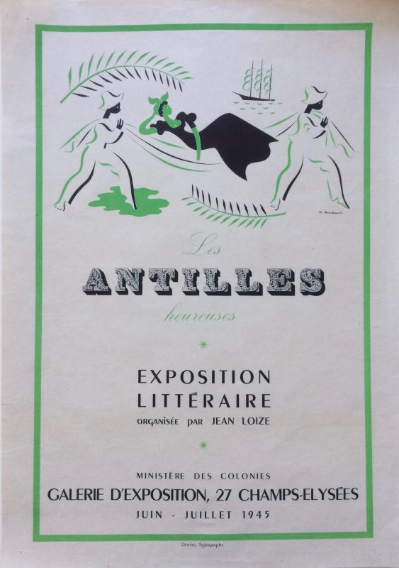 advertising an exhibition of literature from French Antilles