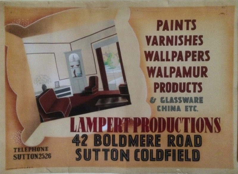 vintage poster for paint