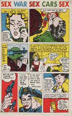 Comic strip style poster
