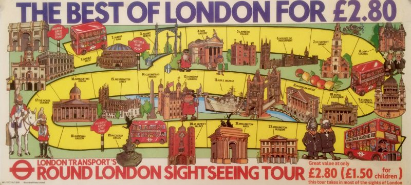 London tourist bus 1980s