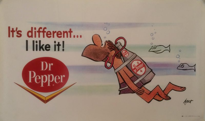 Advertising poster for Dr. Pepper