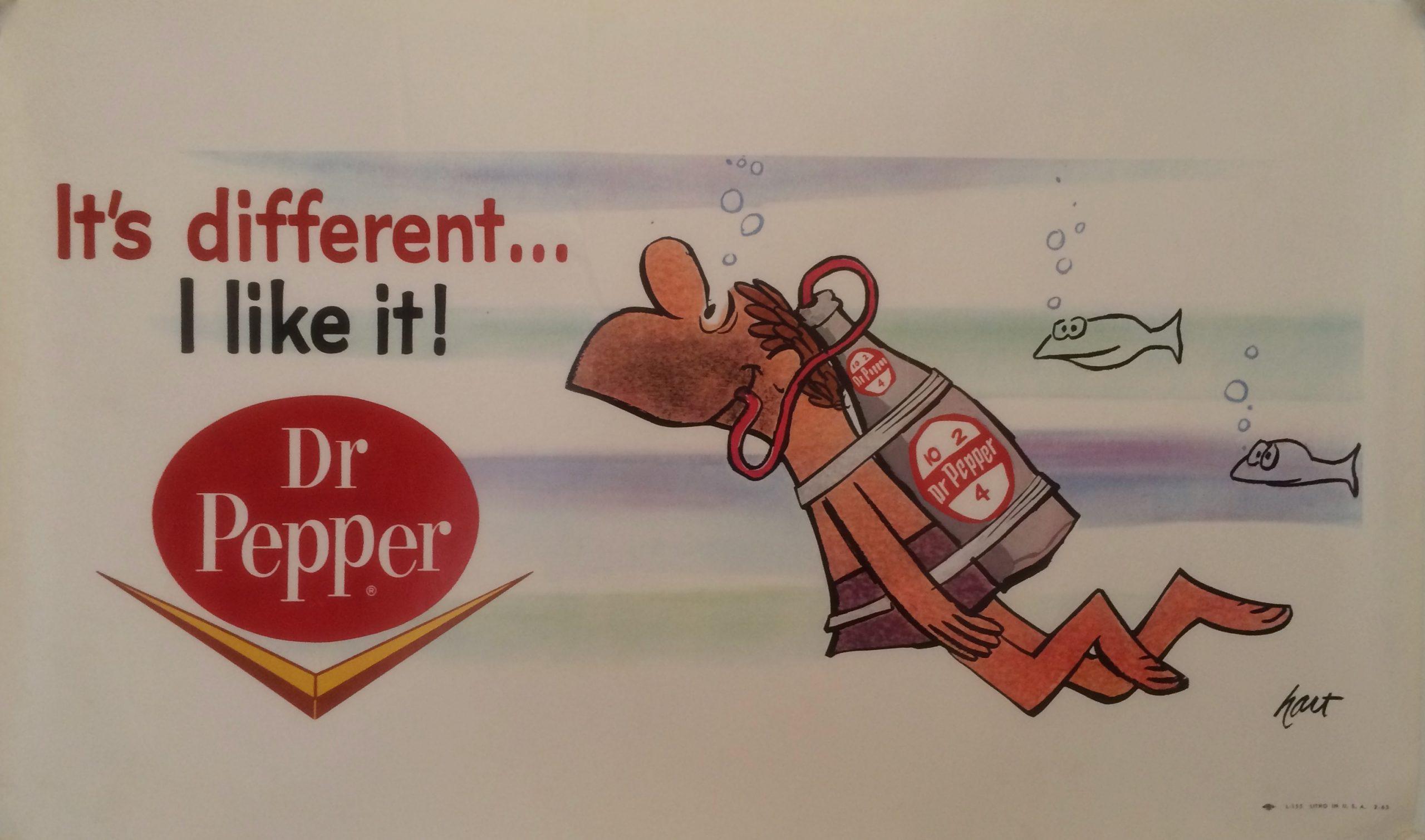 Advertising poster for Dr. Pepper