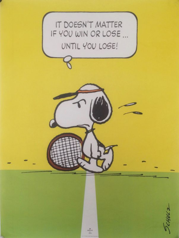 snoopy tennis poster