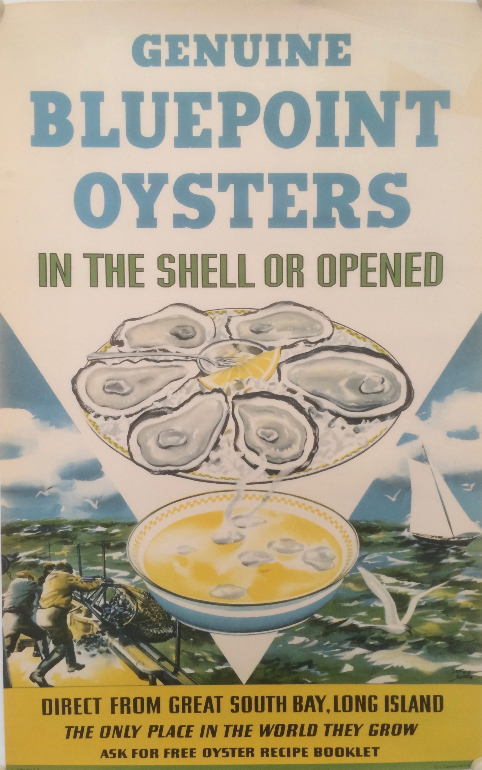 poster advertising Bluepoint Oysters