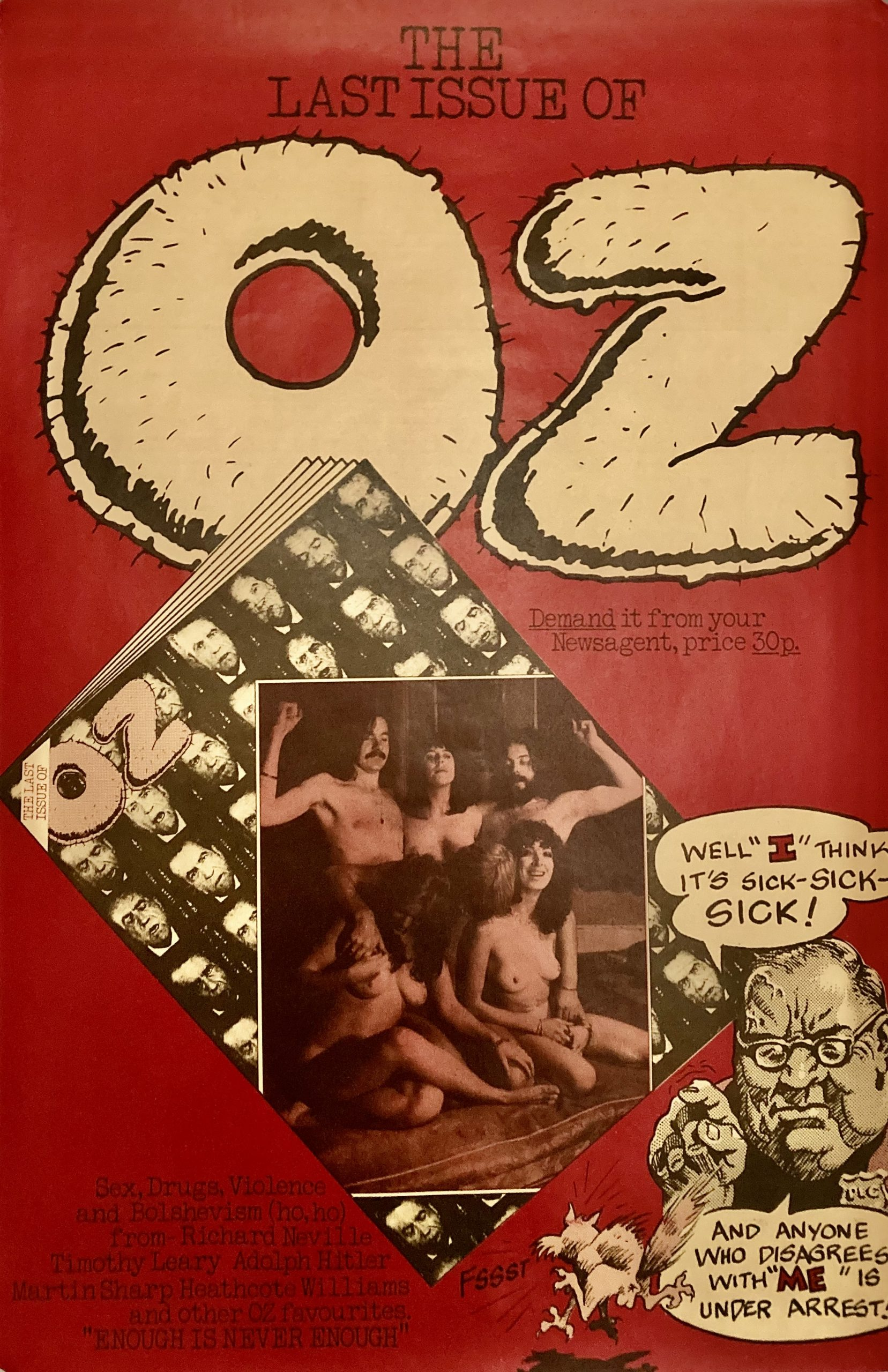 last issue of Oz magazine poster