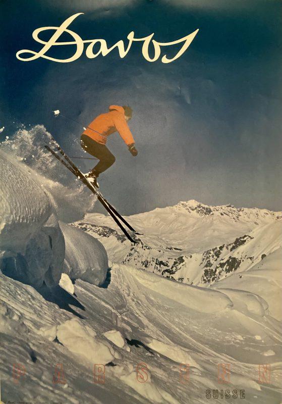 Davos downhill ski poster