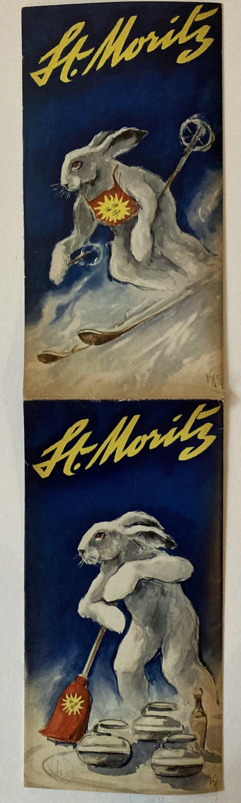 Travel brochure for St. Moritz