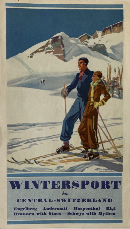 Brochure for Wintersport skiing