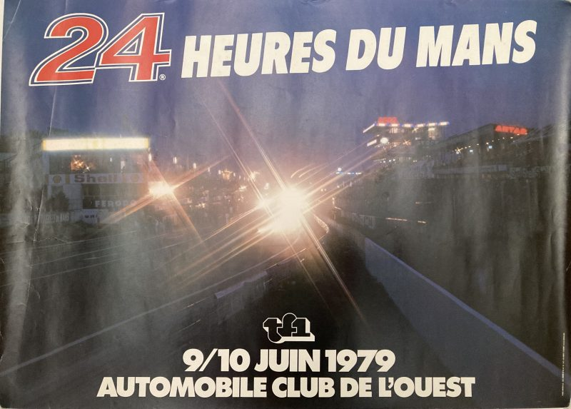 poster for le mans motor racing 1979