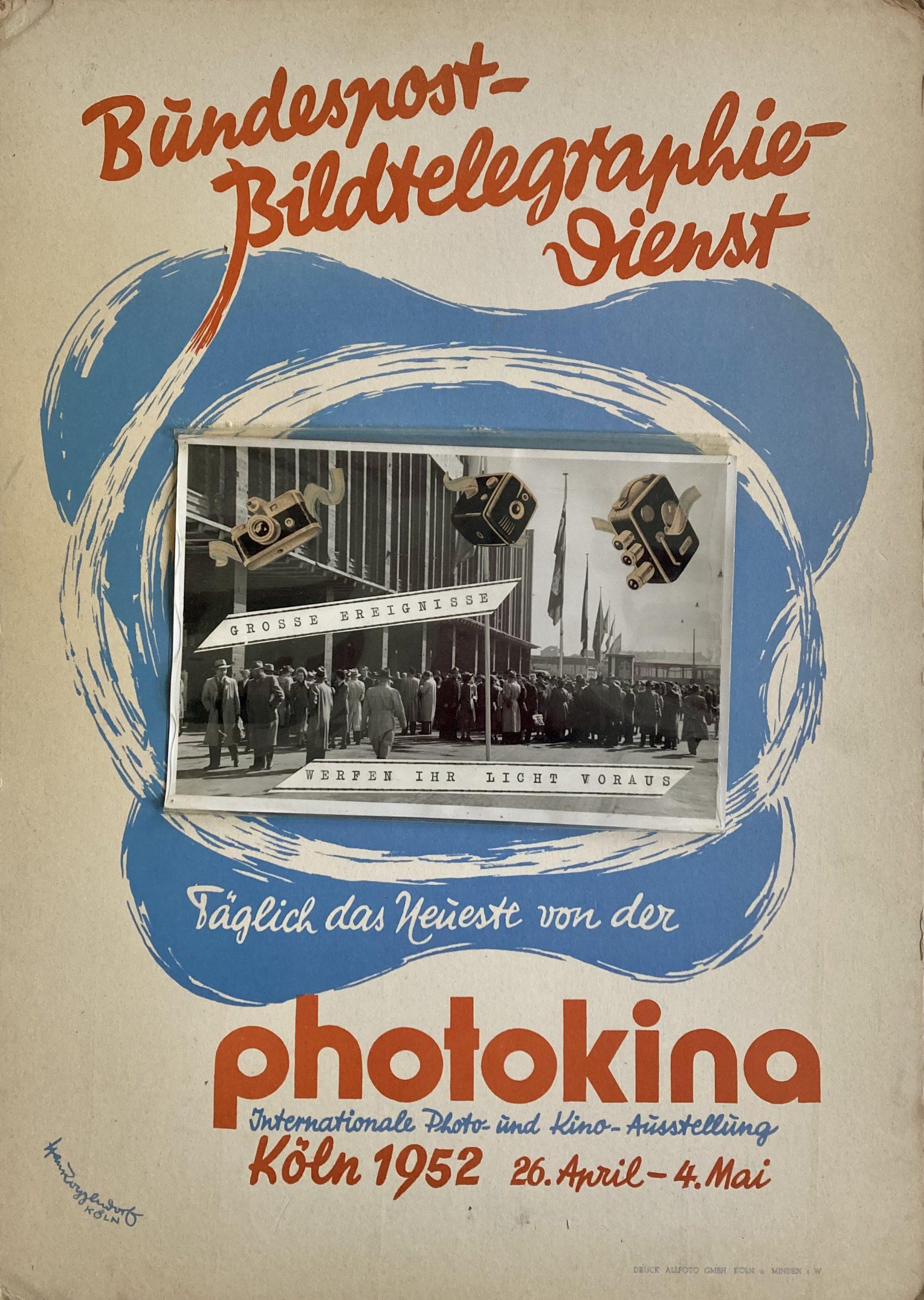 card sign photokina 1952