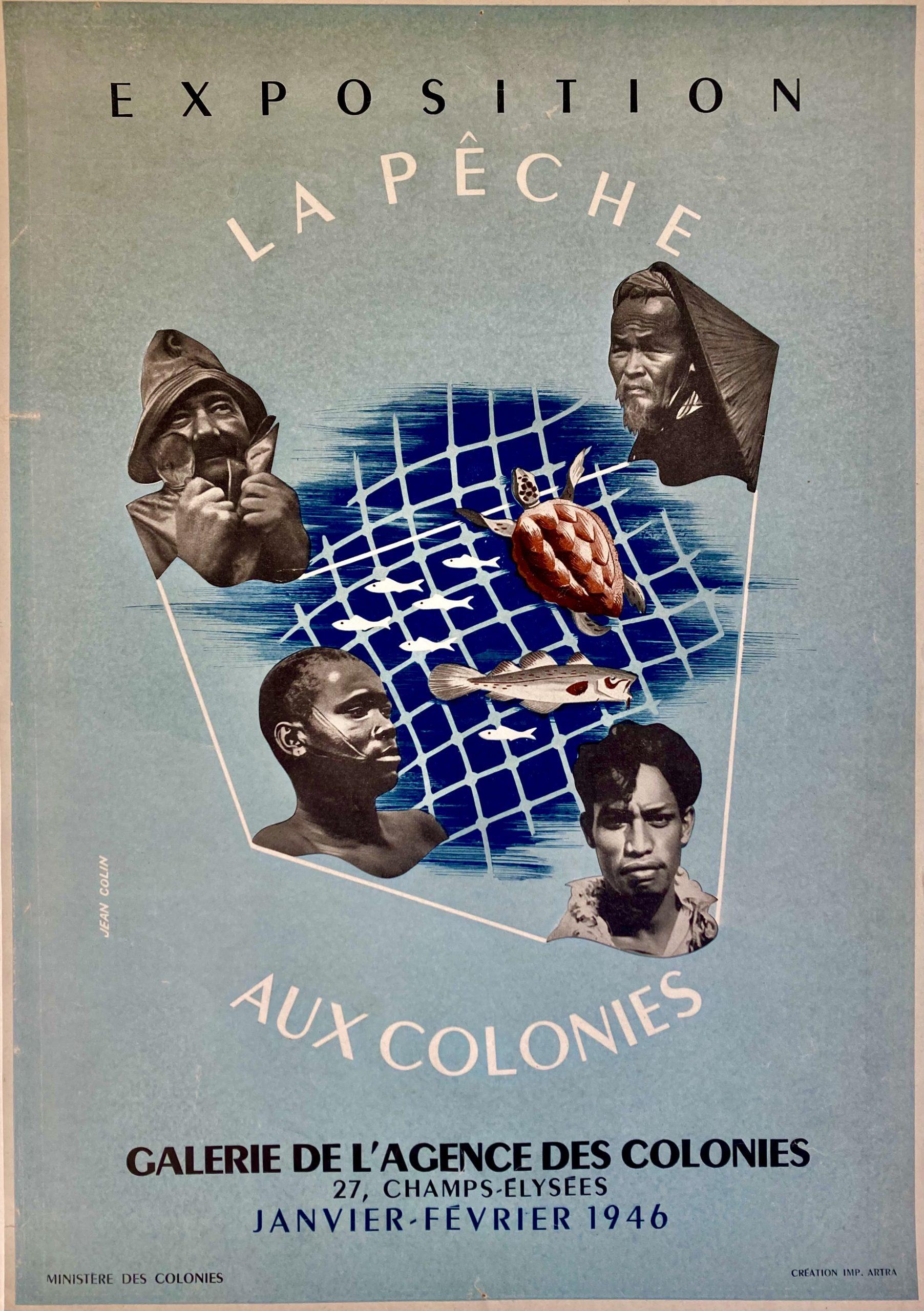 poster for exposition la pêche aux colonies