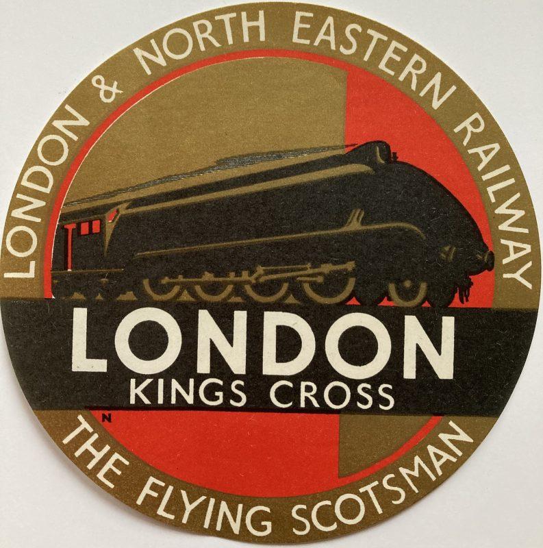 luggage label LNER London Kings Cross