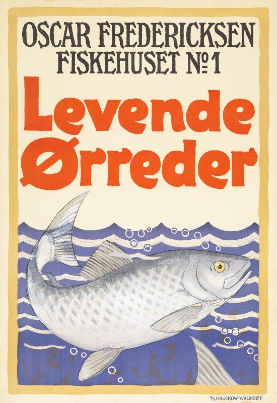 Lorrender Orreder Oscar Fredericksen poster