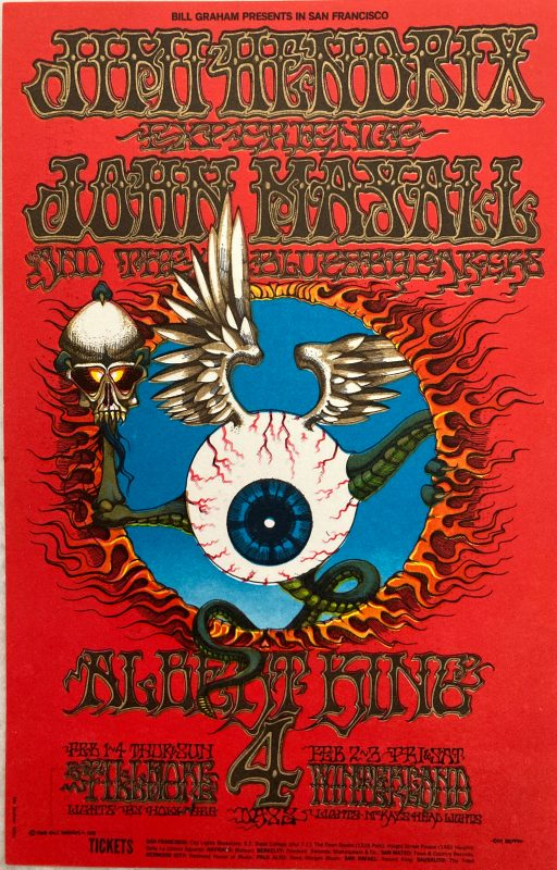 Jimi Hendrix psychedelic postcard