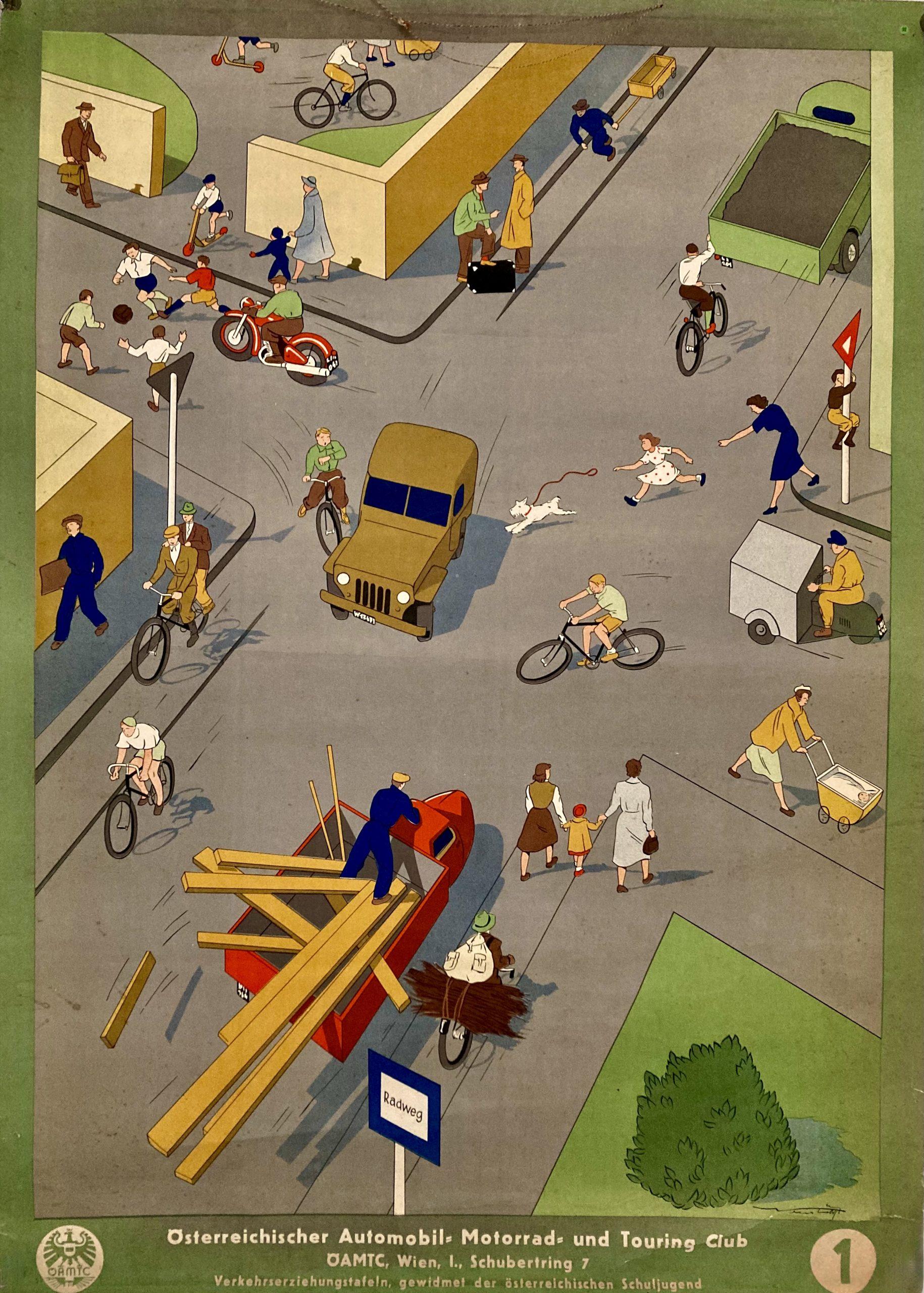 Austrian school poster motoring