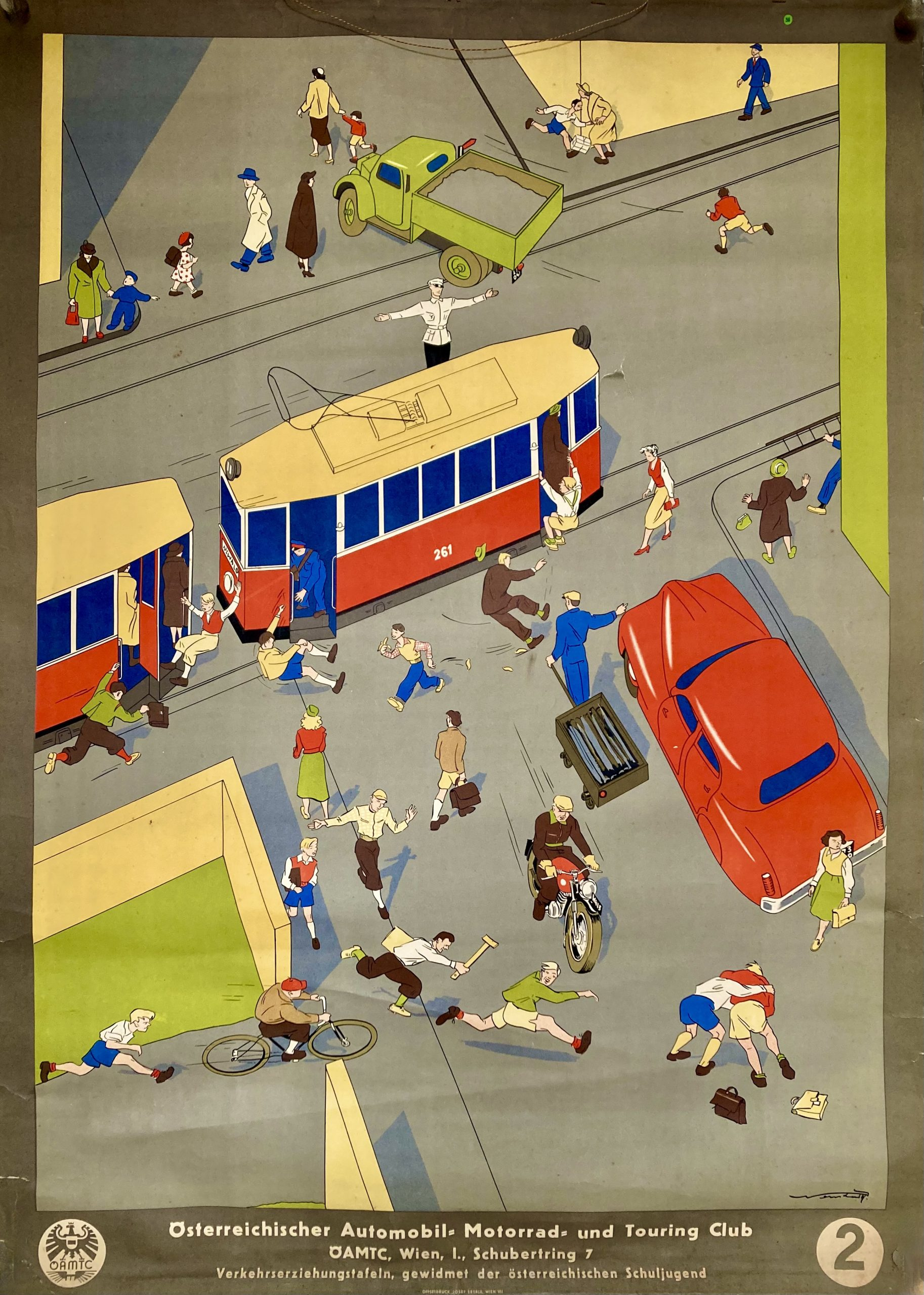 Austrain motoring poster