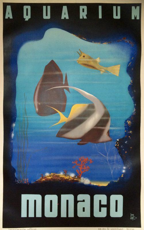 monaco aquarium poster