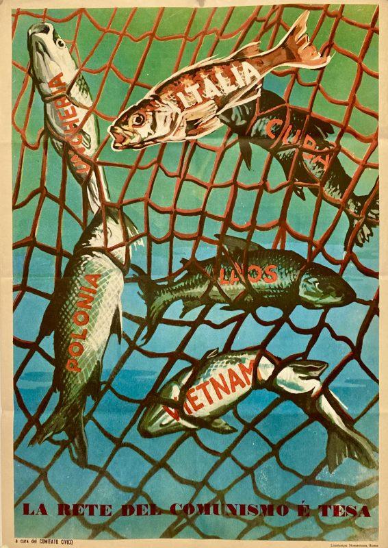 Anti communist Italian poster